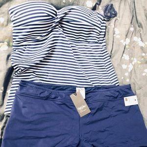 Two Piece Target Padded Tankini/short Swim Suit